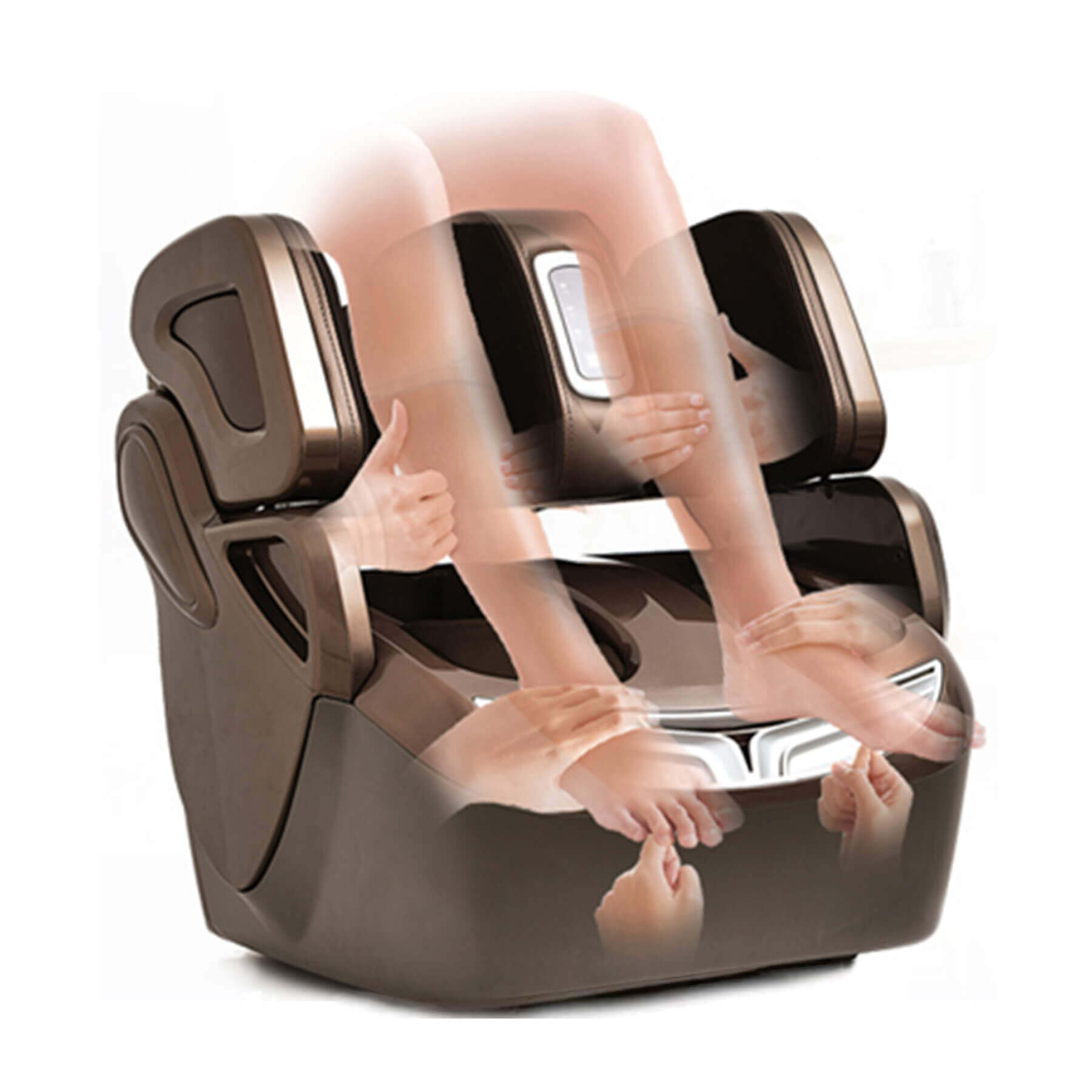 Indulge IF-839 leg, foot and knee massager with Rocker Massage Technology and Dynamic Squeeze™ air massage