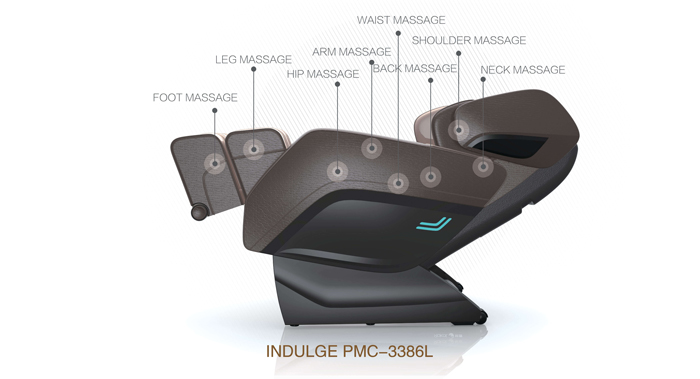 IndulgePMC3400L- Massage Chair - NASA ZERO GRAVITY